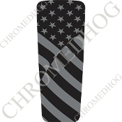 08-15 Ultra & Electra Glide Dash Insert - Flag - Ghost