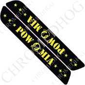 93-13 Saddlebag Latch Reflector Covers - POW*MIA Stars - Yellow