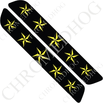 93-13 Saddlebag Latch Reflector Covers - Star - Yellow 5