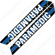 14-Up Saddlebag Latch Reflector Covers - Blue Line - Paramedic