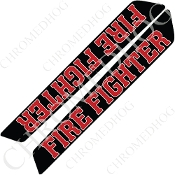 14-Up Saddlebag Latch Reflector Covers - Fire Fighter - Black
