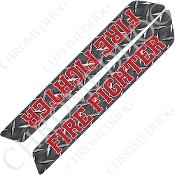 14-Up Saddlebag Latch Reflector Covers - Fire Fighter - DP