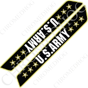 14-Up Saddlebag Latch Reflector Covers - Army - Stars 3