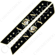 14-Up Saddlebag Latch Reflector Covers - Navy - Stars