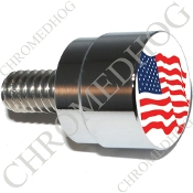 Twin Cam Air Cleaner Bolt - S SM Chrome Billet Flag - American
