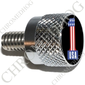 Twin Cam Air Cleaner Bolt - S KN Chrome Billet #1 USA Black