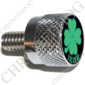Twin Cam Air Cleaner Bolt - S KN Chrome Billet Clover - Irish Bk