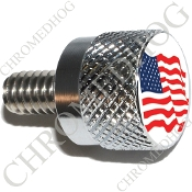 Twin Cam Air Cleaner Bolt - S KN Chrome Billet Flag - American