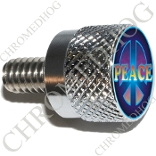 Twin Cam Air Cleaner Bolt - S KN Chrome Billet Peace