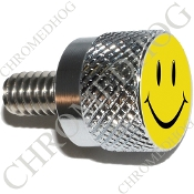 Twin Cam Air Cleaner Bolt - S KN Chrome Billet Smiley Face