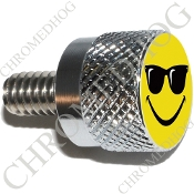 Twin Cam Air Cleaner Bolt - S KN Chrome Billet Smiley Shades