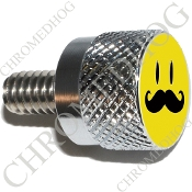 Twin Cam Air Cleaner Bolt - S KN Chrome Billet Smiley 'Stache