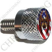 Twin Cam Air Cleaner Bolt - S KN Chrome Billet Eagle - US Flag