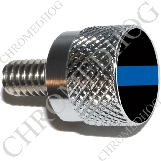Twin Cam Air Cleaner Bolt - S KN Chrome Billet Blue Line