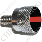 Twin Cam Air Cleaner Bolt - S KN Chrome Billet Red Line