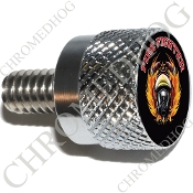 Twin Cam Air Cleaner Bolt - S KN Chrome Billet Fire Fighter - Bk
