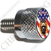 Twin Cam Air Cleaner Bolt - S KN Chrome Billet FireFighter - Flg