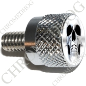 Twin Cam Air Cleaner Bolt - S KN Chrome Billet Ghost Skull