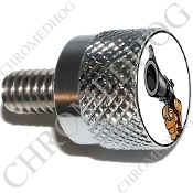 Twin Cam Air Cleaner Bolt - S KN Chrome Billet Gun