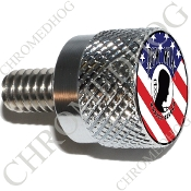 Twin Cam Air Cleaner Bolt - S KN Chrome Billet POW*MIA - Flag