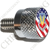 Twin Cam Air Cleaner Bolt - S KN Chrome Billet USAF Tact - Flag