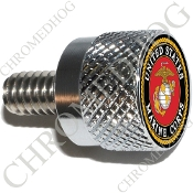 Twin Cam Air Cleaner Bolt - S KN Chrome Billet USMC Marine Corps