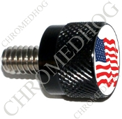 Twin Cam Air Cleaner Bolt - S KN Black Billet Flag - American