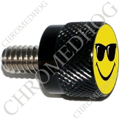 Twin Cam Air Cleaner Bolt - S KN Black Billet Smiley Shades