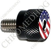 Twin Cam Air Cleaner Bolt - S KN Black Billet POW*MIA - US Flag