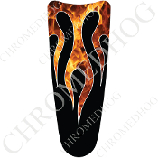 03-07 Ultra Classic CB Dash Insert Decal - Flame - Real