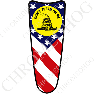 03-07 Ultra Classic CB Dash Insert Decal - Don't Tread US Flag
