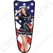 03-07 Ultra Classic CB Dash Insert Decal - Pin Up - Navy - Flag