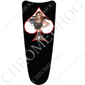 03-07 Ultra Classic CB Dash Insert Decal - Pin Up Spade - ArmyWB