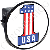 Tow Hitch Cover - #1 USA White