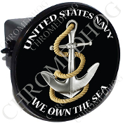 Tow Hitch Cover - USN Anchor - We Own the Sea