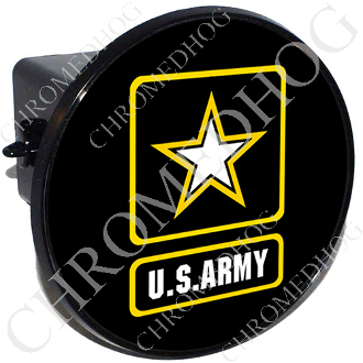 Tow Hitch Cover - Army Logo - Black
