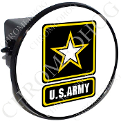Tow Hitch Cover - Army Logo - White