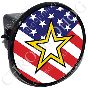 Tow Hitch Cover - Army Star - USA Flag
