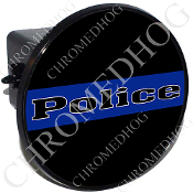 Tow Hitch Cover - Blue Line - Police