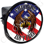 Tow Hitch Cover - Eagle - Freedom Isn't Free - USA Flag