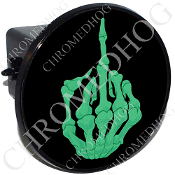 Tow Hitch Cover - Finger - Green/ Black