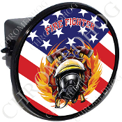 Tow Hitch Cover - Fire Fighter - USA Flag T