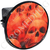 Tow Hitch Cover - Orange Fire Skull