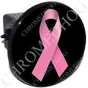 Tow Hitch Cover - Pink Ribbon - Black