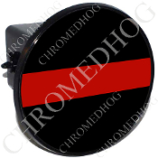 Tow Hitch Cover - Red Line - Black