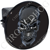 Tow Hitch Cover - Silver Skull