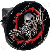 Tow Hitch Cover - Skeleton - Red