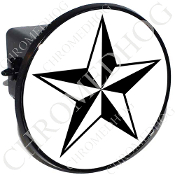 Tow Hitch Cover - Star - Black/ White