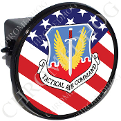 Tow Hitch Cover - USAF Tact - USA Flag