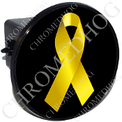 Tow Hitch Cover - Yellow Ribbon - Black